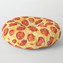 Pepperoni Pizza Pattern Floor Pillow