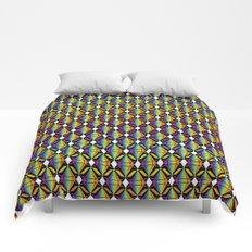 Abstract [RAINBOW] Emeralds pattern Comforters