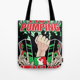 Fist Pumping Italian Tote Bag