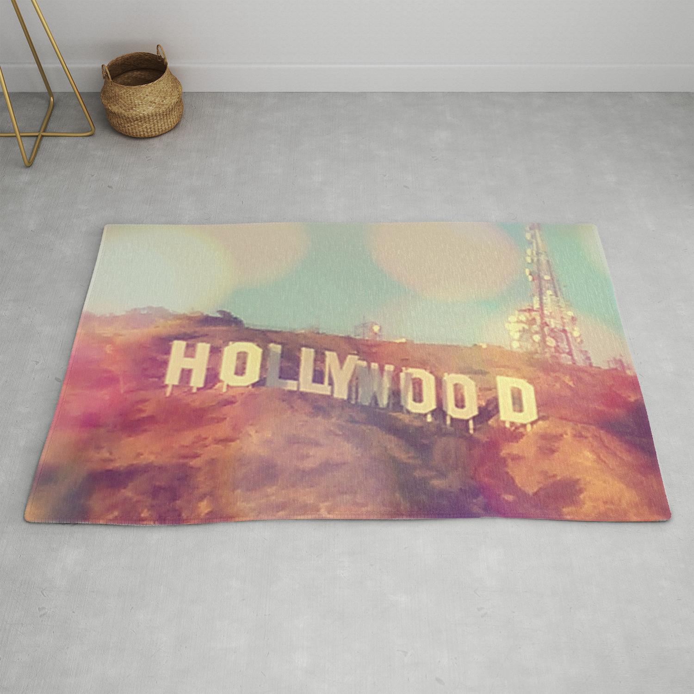 Hollywood Sign Los Angeles California Photograph Rug By Seardig Society6