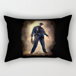 Zombie Cop Rectangular Pillow