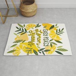 Easy Peasy Lemon Squeezy Citrus – Yellow & Green Palette Rug