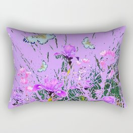 LILAC PURPLE MODERN FLOWERS ABSTRACT Rectangular Pillow