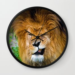 Silly Lion Wall Clock