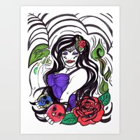 tequila Art Prints featuring Tequila by Nini Wolff