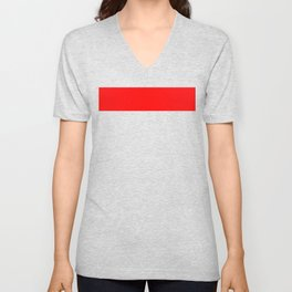 ff0000 Bright Red Unisex V-Neck