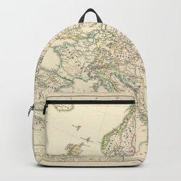 Vintage Map - Spruner-Menke Handatlas (1880) - 11 Napoleonic Europe, 1810 Backpack
