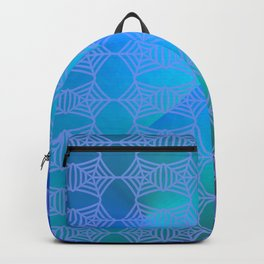 Pattern by spider web blue ... Backpack