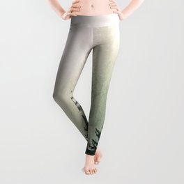Foggy Pine Trees Leggings
