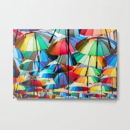 Under My Umbrellas Metal Print