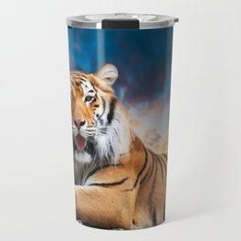 Tiger Sunset Travel Mug