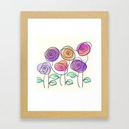 Half A Dozen Roses Framed Art Print