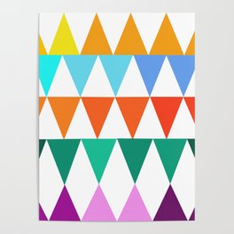 Triangles of Color Poster