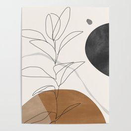 Abstract Art /Minimal Plant Poster
