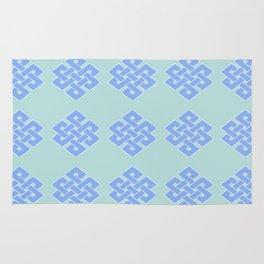 Eternal (soft blue & green) Rug