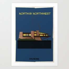 North by Northwest Directed by Alfred Hitchcock Art Print