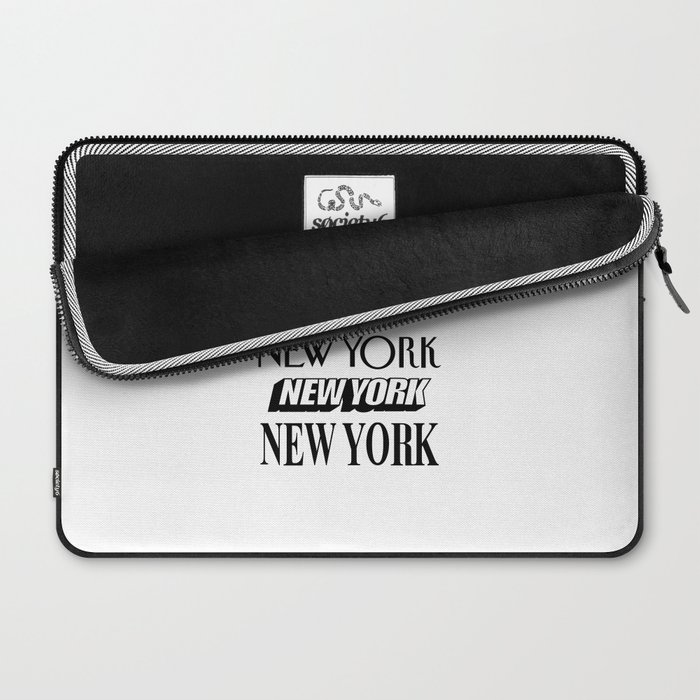I Heart New York City Black and White New York Poster I Love NYC Design black-white home wall decor Laptop Sleeve