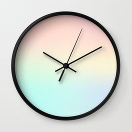 Unicorn Pastel Gradient Wall Clock