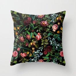 Floral Jungle Throw Pillow