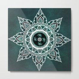Mandala Elephant Star Indian Spiritual Zen Bohemian Hippie Yoga Mantra Meditation Metal Print