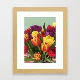 Towering Tulips Framed Art Print