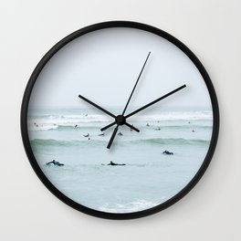 Tiny Surfers Lima, Peru Wall Clock