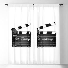 Our Wedding Clapperboard Blackout Curtain