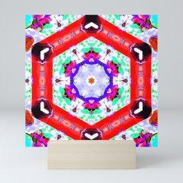 rouge & refresh mandala Mini Art Print