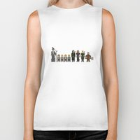 lotr Biker Tanks featuring 8-bit LOTR The Fellowship of The Ring by MrHellstorm