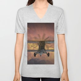 Loud Planes Fly Low Unisex V-Neck