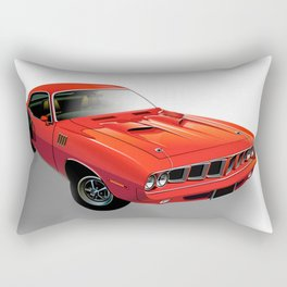 Red American muscle car Rectangular Pillow