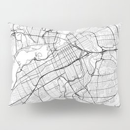 Ottawa Map White Pillow Sham