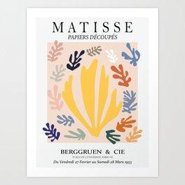 Matisse cutoff - abstract cutoff - minimal leaf's Art Print