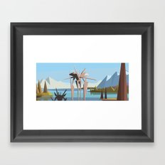 robot in tahoe Framed Art Print