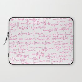 Pink Math Equations Laptop Sleeve