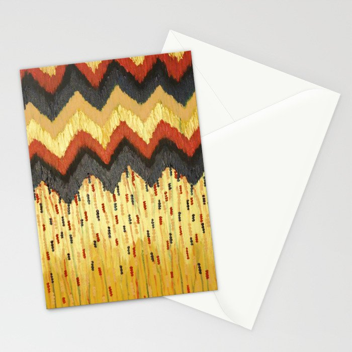 SHINE ON - Gold Glam Chevron Colorful Abstract Acrylic Pattern Painting Modern Home Decor Fine Art Stationery Cards