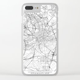Frankfurt Map White Clear iPhone Case