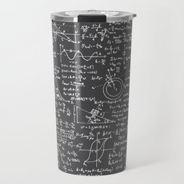 Physics Equations // Charcoal Grey Travel Mug
