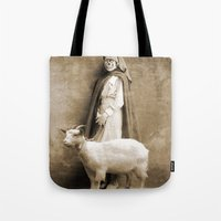 nurse Tote Bags featuring the nurse by Seamless