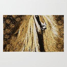 Horse Mosaic Brown Friesian Rug
