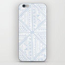 Simply Tribal Tile in Sky Blue on Lunar Gray iPhone Skin