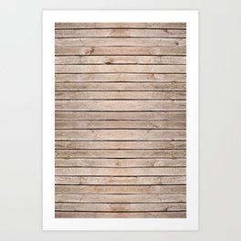 Weathered boards texture abstract Art Print