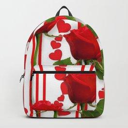 SCARLET ROSES & RED VALENTINE HEARTS  DESIGN Backpack