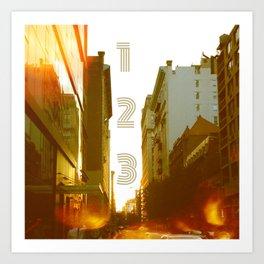 123 NYC Art Print