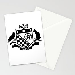 Cabot Crest Hermetic Black/White Stationery Cards