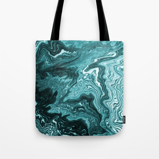Yumiko - spilled ink painting abstract minimal ocean wave water sea monochromatic trendy hipster art Tote Bag