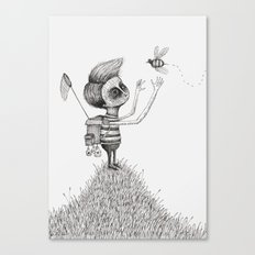 'The Bug Collector' Canvas Print