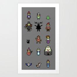 Over the Garden Wall - Pixel Art Art Print