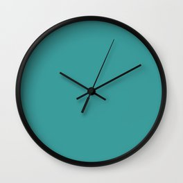 Cheapest Solid Dark Turquoise Color Wall Clock