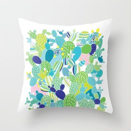 Cactus Mania Throw Pillow